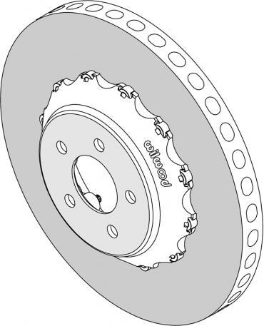 Wilwood Brakes C/SiC Rotor & Bobbin Mount Hat Assembly 165-15745