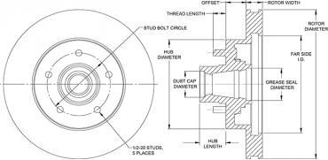 Wilwood Brakes HP Hub & Rotor 160-14555