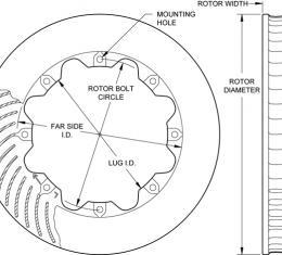 Wilwood Brakes Ultralite HP 32 Curved Vane Rotor 160-5846