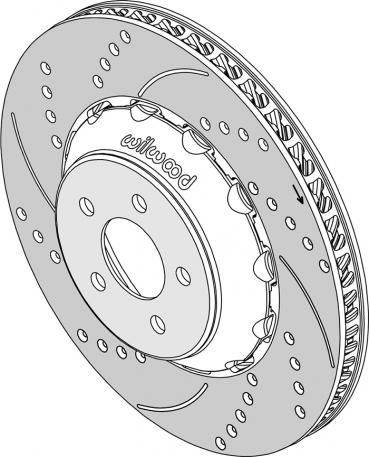 Wilwood Brakes SRP Rotor & Lug Drive Hat Assembly 165-15331