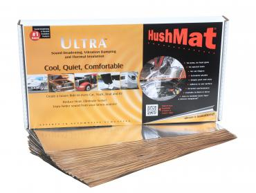 "HushMat Floor/Firewall Kit - Silver Foil with Self-Adhesive Butyl-20 Sheets 12"" x 23"" ea 38.7 sq ft 10401"