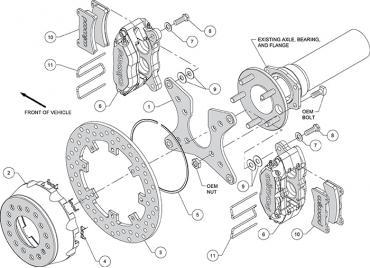 Wilwood Brakes Dynapro Dual SA Lug Drive Dynamic Rear Drag Brake Kit 140-12557-DN