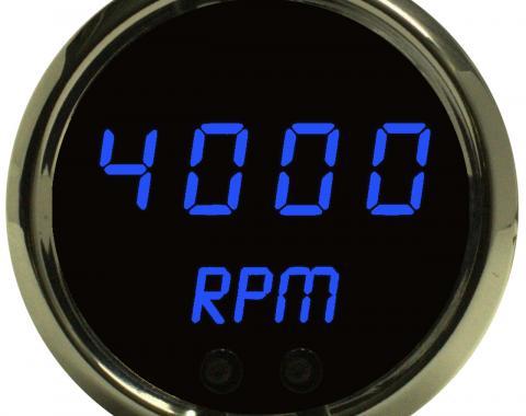 Intellitronix Mini-Tachometer Programmable Black MS9002