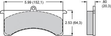 Wilwood Brakes High-Temperature Racing Pads - Plate: 7520 - Compound: PolyMatrix A 15A-5736K-B