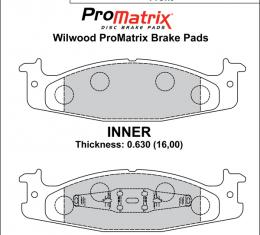 Wilwood Brakes Street Performance / Racing Pads - Plate: D632 - Compound: PM - ProMatrix 150-D0632K