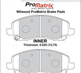 Wilwood Brakes Street Performance / Racing Pads - Plate: D866 - Compound: PM - ProMatrix 150-D0866K