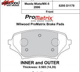 Wilwood Brakes Street Performance / Racing Pads - Plate: D1179 - Compound: PM - ProMatrix 150-D1179K