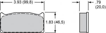 Wilwood Brakes High-Temperature Racing Pads - Plate: 8320 - Compound: PolyMatrix J 15J-6444K-B