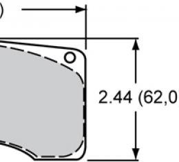 Wilwood Brakes High-Temperature Racing Pads - Plate: 9225 - Compound: PolyMatrix A 15A-10154K