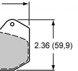 Wilwood Brakes High-Temperature Racing Pads - Plate: 6712 - Compound: PolyMatrix B 15B-10725K