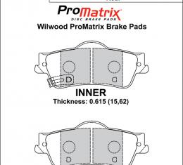Wilwood Brakes Street Performance / Racing Pads - Plate: D1352 - Compound: PM - ProMatrix 150-D1352K