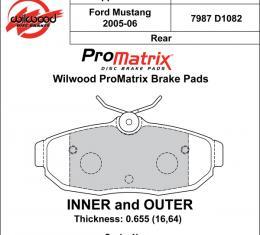 Wilwood Brakes Street Performance / Racing Pads - Plate: D1082 - Compound: PM - ProMatrix 150-D1082K