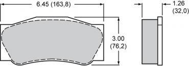 Wilwood Brakes High-Temperature Racing Pads - Plate: 4632 - Compound: PolyMatrix J 15J-10838K