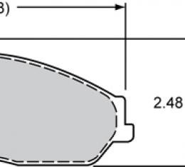 Wilwood Brakes Street Performance / Racing Pads - Plate: D731 - Compound: PolyMatrix Q 15Q-8012K