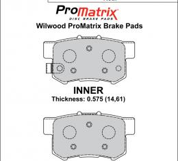 Wilwood Brakes Street Performance / Racing Pads - Plate: D536 - Compound: PM - ProMatrix 150-D0536K