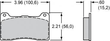 Wilwood Brakes High-Temperature Racing Pads - Plate: 7816 - Compound: PolyMatrix H 15H-10645K