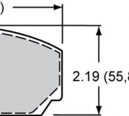 Wilwood Brakes High-Temperature Racing Pads - Plate: 8517 - Compound: PolyMatrix H 15H-8122K