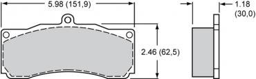 Wilwood Brakes High-Temperature Racing Pads - Plate: 8830 - Compound: PolyMatrix A 15A-10253K-B
