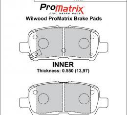 Wilwood Brakes Street Performance / Racing Pads - Plate: D999 - Compound: PM - ProMatrix 150-D0999K