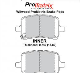 Wilwood Brakes Street Performance / Racing Pads - Plate: D1028 - Compound: PM - ProMatrix 150-D1028K
