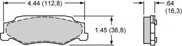 Wilwood Brakes Street Performance / Racing Pads - Plate: D732 - Compound: PolyMatrix E 15E-7441K