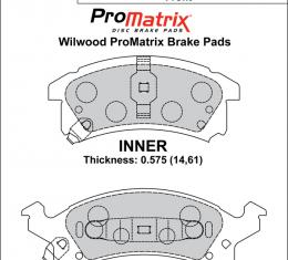 Wilwood Brakes Street Performance / Racing Pads - Plate: D673 - Compound: PM - ProMatrix 150-D0673K