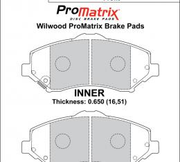 Wilwood Brakes Street Performance / Racing Pads - Plate: D1273 - Compound: PM - ProMatrix 150-D1273K