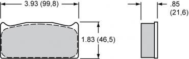 Wilwood Brakes High-Temperature Racing Pads - Plate: 8322 - Compound: PolyMatrix A 15A-6692K-B