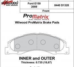 Wilwood Brakes Street Performance / Racing Pads - Plate: D1328 - Compound: PM - ProMatrix 150-D1328K