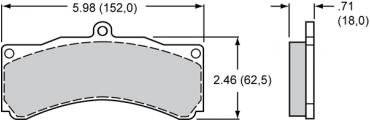 Wilwood Brakes High-Temperature Racing Pads - Plate: 8618 - Compound: PolyMatrix A 15A-5885K