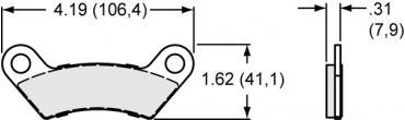 Wilwood Brakes Power Sports / Industrial Pads - Plate: 10008 - Compound: Sintered Metallic 150-11648K