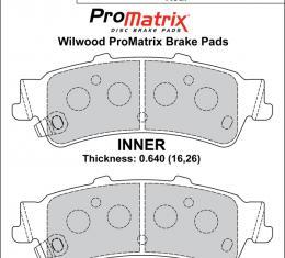 Wilwood Brakes Street Performance / Racing Pads - Plate: D792 - Compound: PM - ProMatrix 150-D0792K