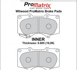Wilwood Brakes Street Performance / Racing Pads - Plate: D976 - Compound: PM - ProMatrix 150-D0976K