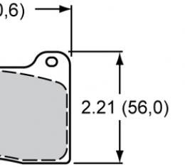 Wilwood Brakes High-Temperature Racing Pads - Plate: 7812 - Compound: PolyMatrix A 15A-9835K