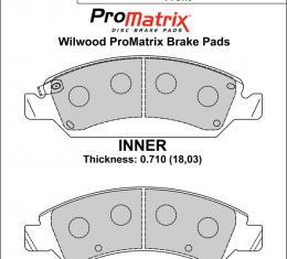 Wilwood Brakes Street Performance / Racing Pads - Plate: D1363 - Compound: PM - ProMatrix 150-D1363K