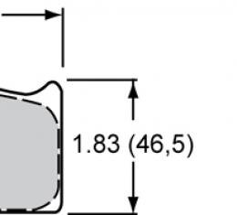 Wilwood Brakes High-Temperature Racing Pads - Plate: 8316 - Compound: PolyMatrix A 15A-5887K