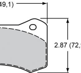 Wilwood Brakes High-Temperature Racing Pads - Plate: 6620 - Compound: PolyMatrix H 15H-13011K