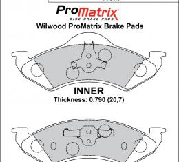 Wilwood Brakes Street Performance / Racing Pads - Plate: D820 - Compound: PM - ProMatrix 150-D0820K