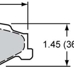 Wilwood Brakes Street Performance / Racing Pads - Plate: D732 - Compound: PM - ProMatrix 150-D0732K