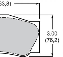 Wilwood Brakes High-Temperature Racing Pads - Plate: 4632 - Compound: PolyMatrix A 15A-10836K