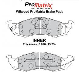 Wilwood Brakes Street Performance / Racing Pads - Plate: D576 - Compound: PM - ProMatrix 150-D0576K
