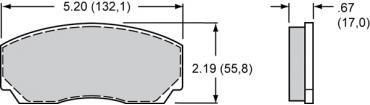 Wilwood Brakes High-Temperature Racing Pads - Plate: 8517 - Compound: PolyMatrix J 15J-10019K