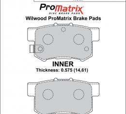Wilwood Brakes Street Performance / Racing Pads - Plate: D537 - Compound: PM - ProMatrix 150-D0537K
