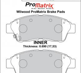 Wilwood Brakes Street Performance / Racing Pads - Plate: D562 - Compound: PM - ProMatrix 150-D0562K