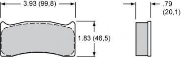 Wilwood Brakes High-Temperature Racing Pads - Plate: 7620 - Compound: PolyMatrix C 15C-4721K