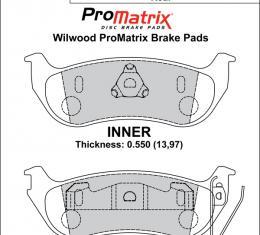 Wilwood Brakes Street Performance / Racing Pads - Plate: D981 - Compound: PM - ProMatrix 150-D0981K