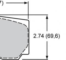 Wilwood Brakes High-Temperature Racing Pads - Plate: 9830 - Compound: PolyMatrix A 15A-7062K-B