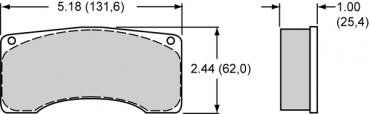 Wilwood Brakes High-Temperature Racing Pads - Plate: 9225 - Compound: PolyMatrix H 15H-10365K