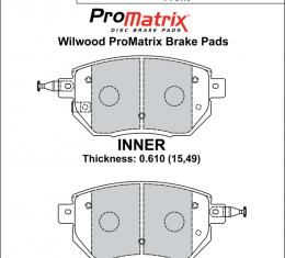 Wilwood Brakes Street Performance / Racing Pads - Plate: D969 - Compound: PM - ProMatrix 150-D0969K