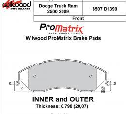 Wilwood Brakes Street Performance / Racing Pads - Plate: D1399 - Compound: PM - ProMatrix 150-D1399K